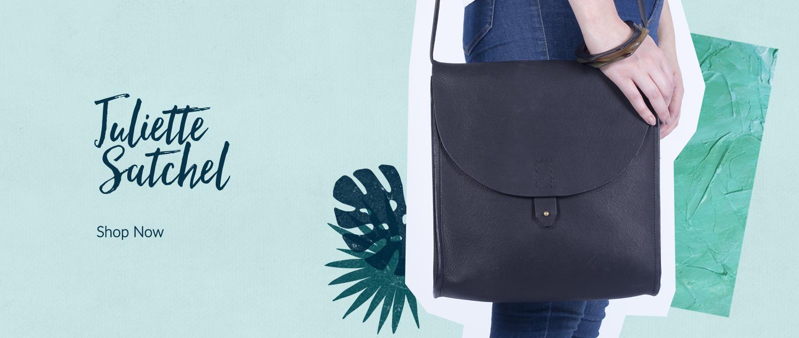 Black Leather Juliette Satchel – MAYKHER Fashion
