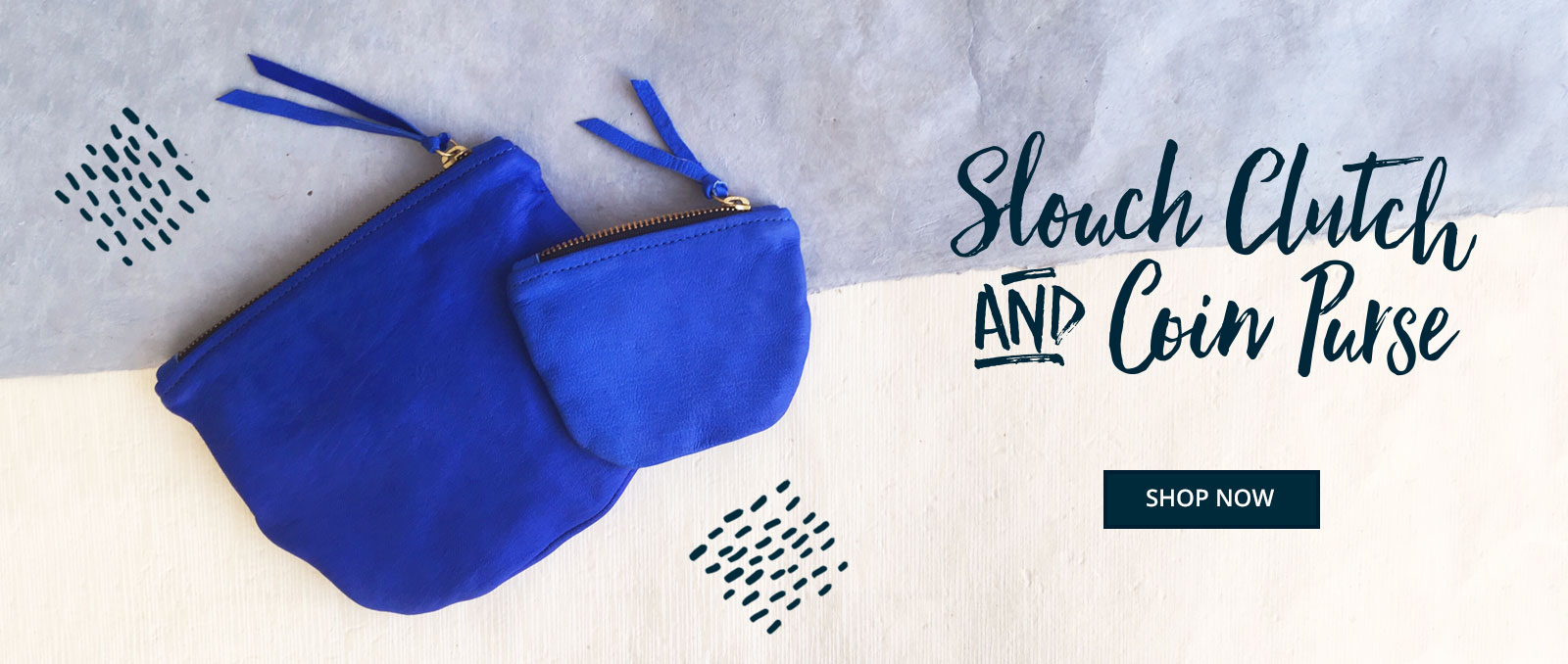 Leather Clutch Bags   Cobalt Clutch Bag   Sustainable Fashion