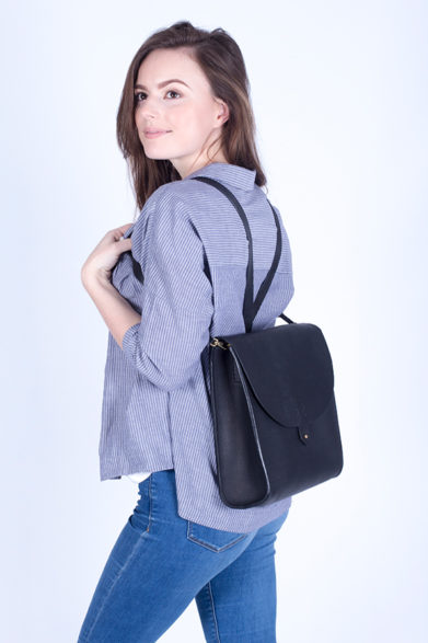 Leather Satchel | Bag | Rucksack | Black | Sustainable Fashion