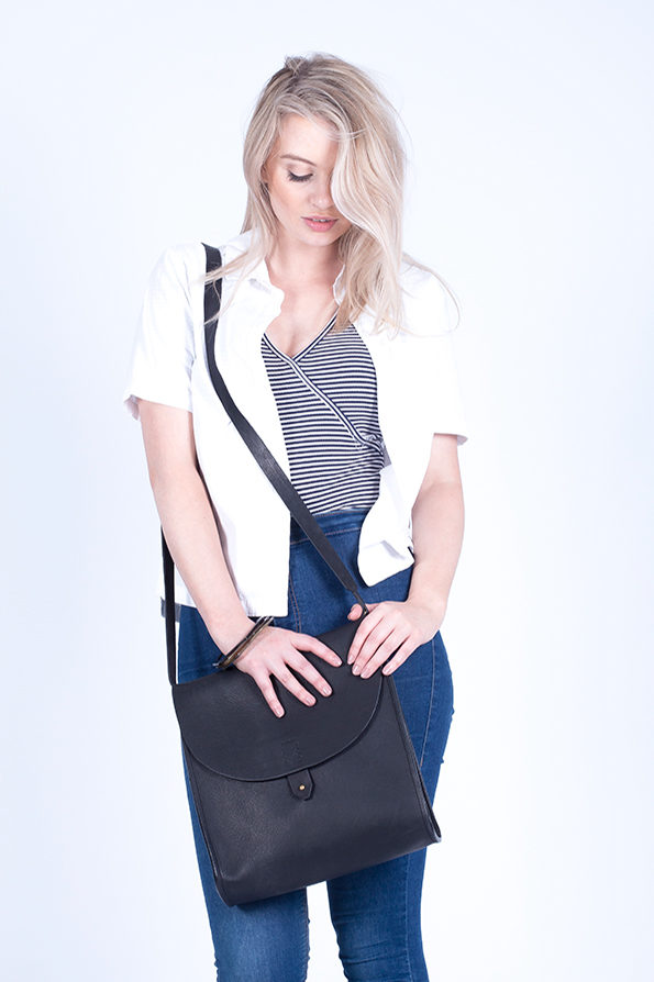 Leather Satchel | Bag | Rucksack | Black | Sustainable Fashion