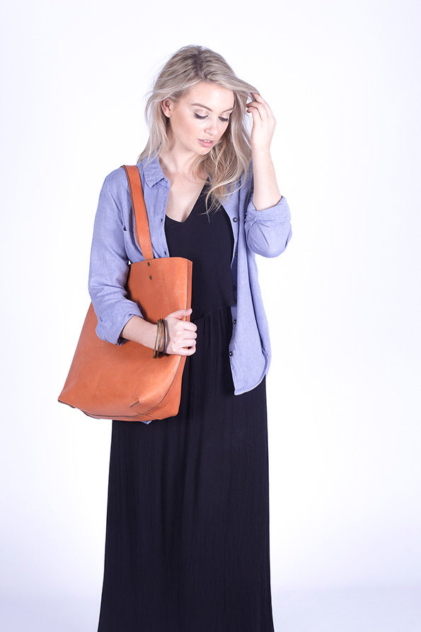 Tote Bag | Leather | Tan