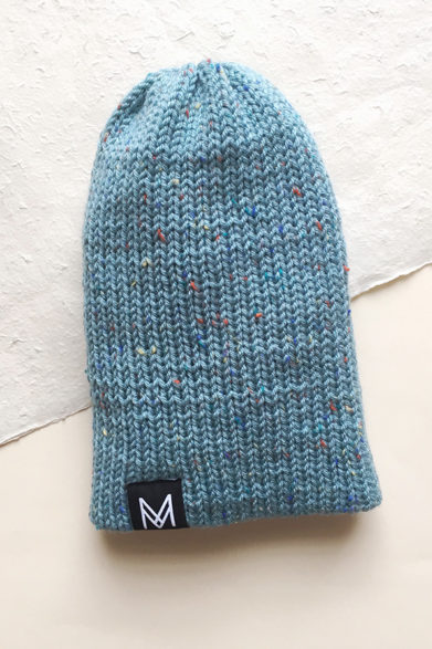 Knitted Beanie| Hat | Blue| Handmade | Sustainable Fashion