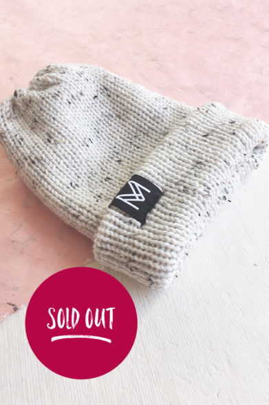 Knitted Beanie| Hat | Oatmeal | Handmade | Sustainable Fashion