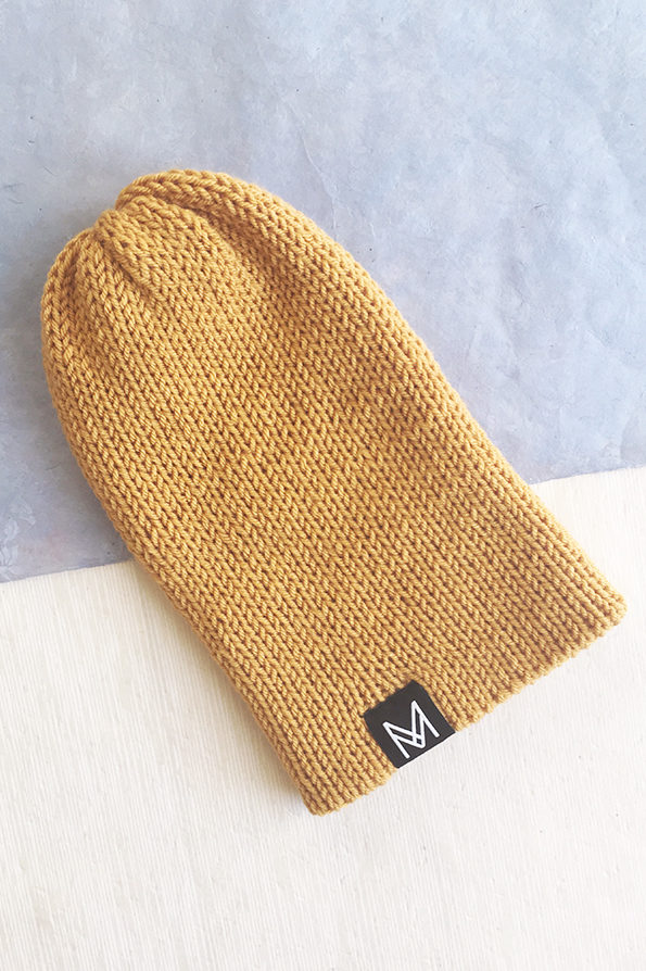 Knitted Beanie| Hat | Mustard | Handmade | Sustainable Fashion