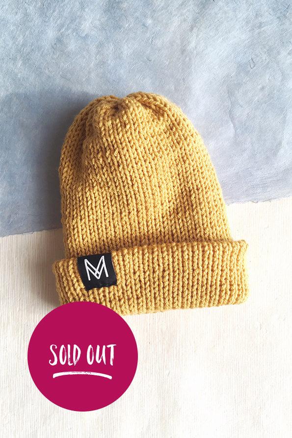 Knitted Beanie Hat | Ochre